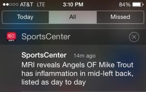 Mike Trout Back Problems
