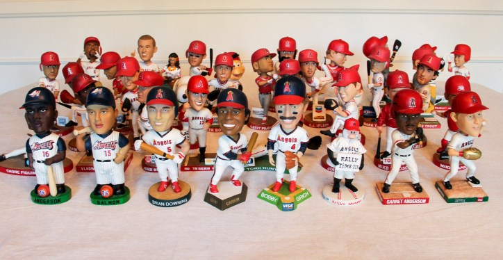 Complete set of Angels bobbleheads