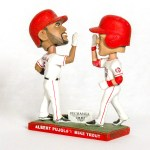 2016 Angels Mike Trout Albert Pujols 40 home ron Double Bobblehead