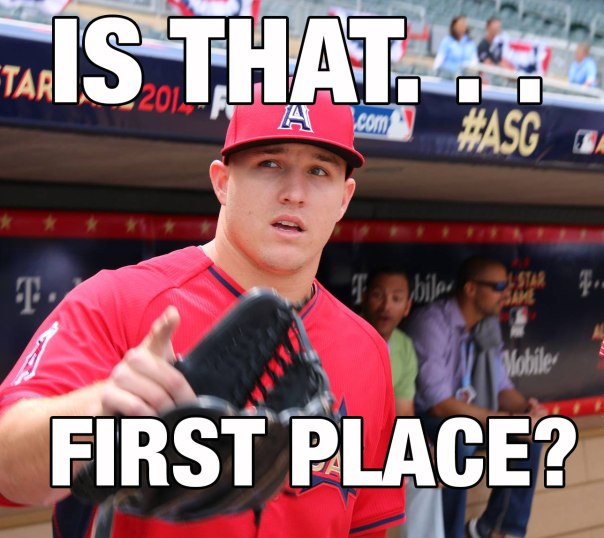 Mike Trout and the Angels in first place