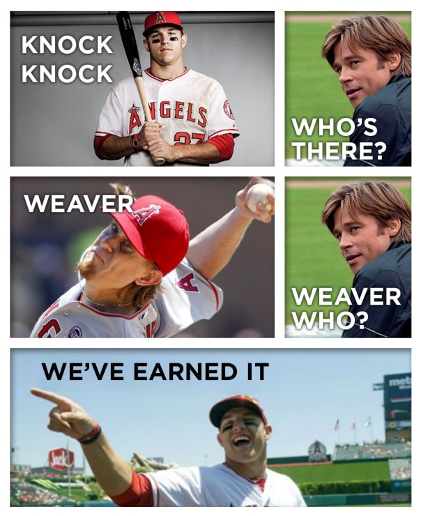 Knock Knock Jered Weaver Mike Trout