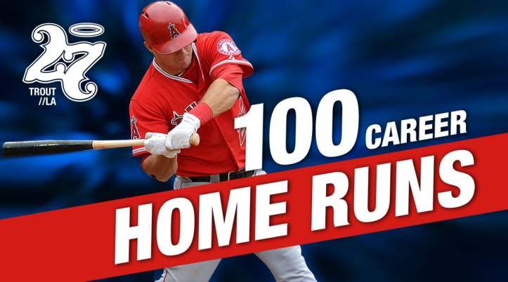 MIke Trout hits 100 home runs