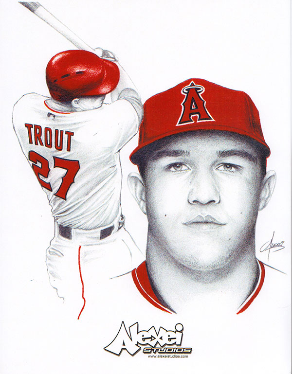 Mike Trout fan art