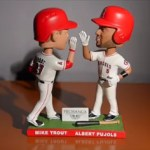 2016 Mike Trout Albert Pujols Home run race bobblehead