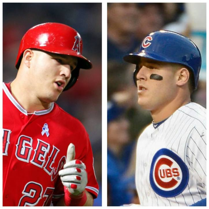 Mike Trout and Anthony Rizzo look like twins