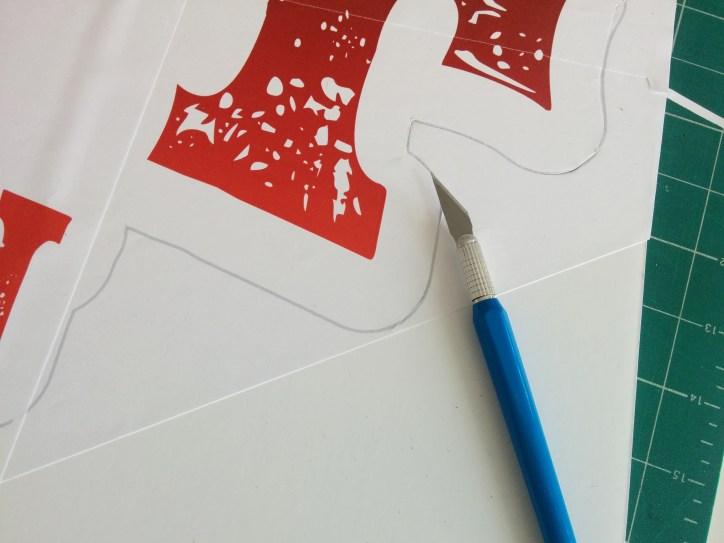 x-acto knif cutting foam board
