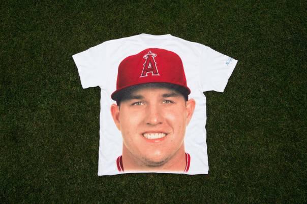 Creepy Mike Trout Face T-shirt