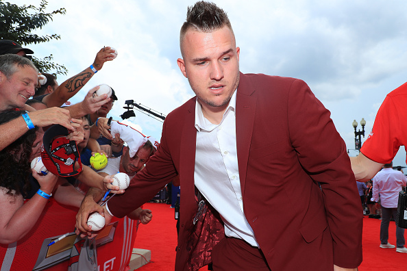Mike Trout on the red carpet of the All Star Game