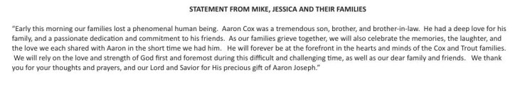 Mike Trout's response on the passing of his brother-in-law