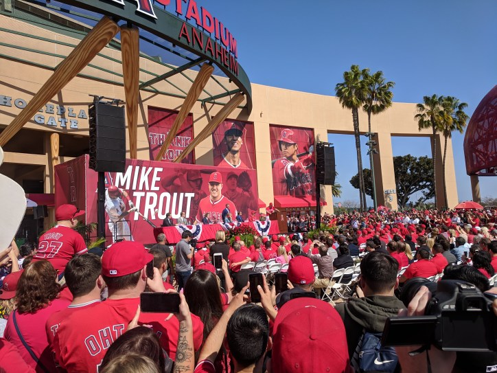 Trout contract press conference