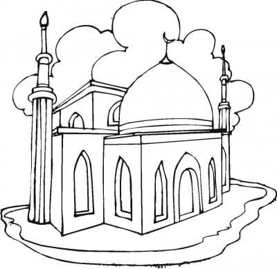 la mosquée coloriage w1024 h1024 400x389 Colorier votre mosquée