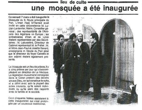 Association cultuelle El HOUDA mosquée Mosquée inaugurée en 1981, remplacée par une fourrière en 2011