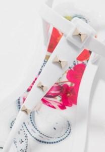 Witte platte trouwschoenen Ted Baker