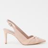 Blush pink slingback trouwschoenen Dune
