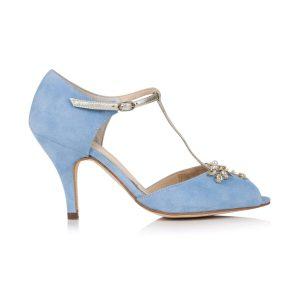 Blauwe trouwschoenen Rachel Simpson