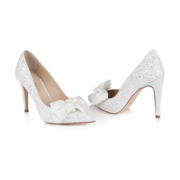 Witte glitterpumps Rachel Simpson