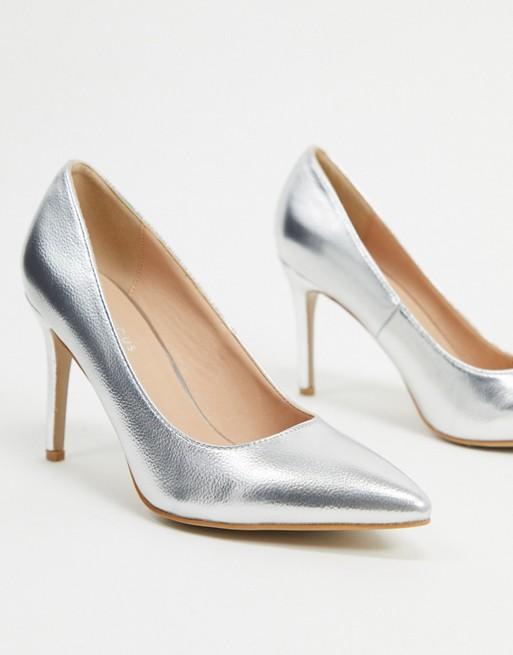 Zilveren trouwschoenen Glamorous