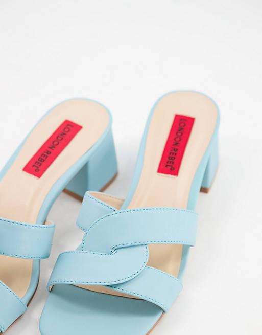 Blauwe trouwschoenen London Rebel