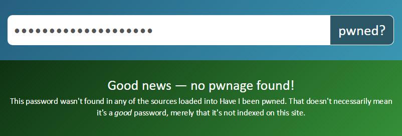 Password not pwned