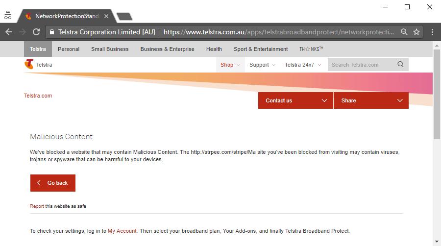 Telstra Phishing Protection