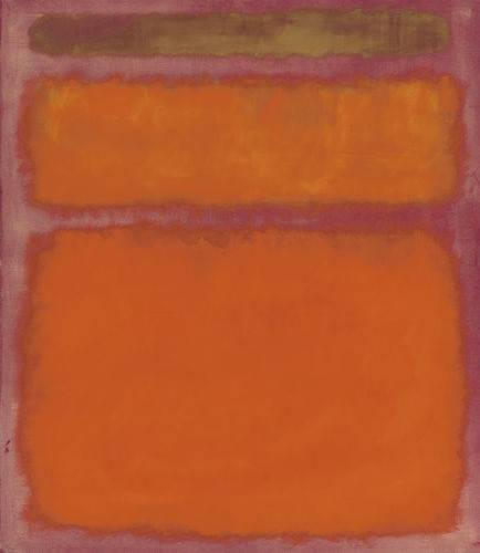 Orange, Red, Yellow by Mark Rothko, 1961, sold in 2013 for $87 million, fair use via Wikipedia.org