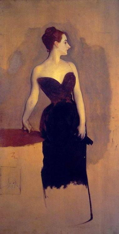 Unfinished version of Madame X by John Singer Sargent [Public domain], via Wikimedia Commons