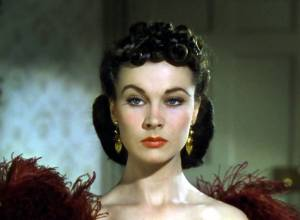 Vivien Leigh as Scarlett O'Hara Butler in Gone with the Wind, trailer screenshot derivative work: The Photographer [Public domain], via Wikimedia Commons.