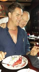 La Griglia waiter David Purdie wishes Graham Gemoets a Happy Birthday!