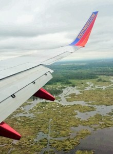 Whether one calls it the company jet, a flying Greyhound, or a cattle call, Southwest Airlines is an inexpensive way to leapfrog Louisiana.