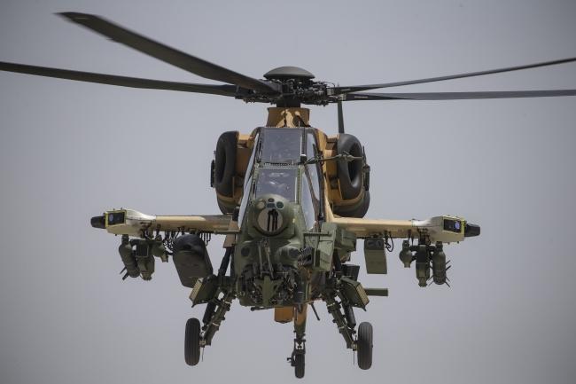 T-129 ATAK helikopterleri terörle mücadelede büyük katkılar sağlıyor. Foto: AA