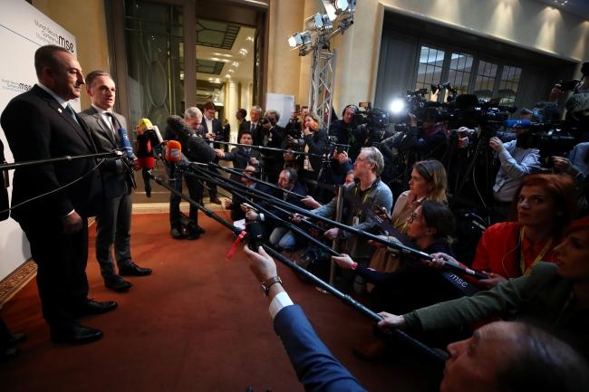 Dışişleri Bakanı Mevlüt Çavuşoğlu, Alman mevkidaşı Maas ile Münih'te ortak basın toplantısı düzenledi | Fotoğraf: Reuters
