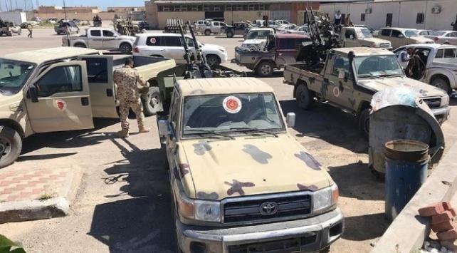 Libyanın başkentinde Hafter güçlerine ait araçlar imha edildi