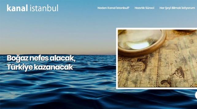 İletişim Başkanlığından Kanal İstanbula internet sitesi