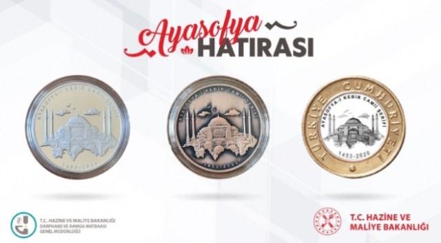 Ayasofya Camii özel hatıra parası basıldı