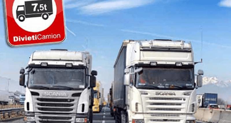 Divieti di circolazione: deroga valida anche per i viaggi a vuoto per il carico della merce
