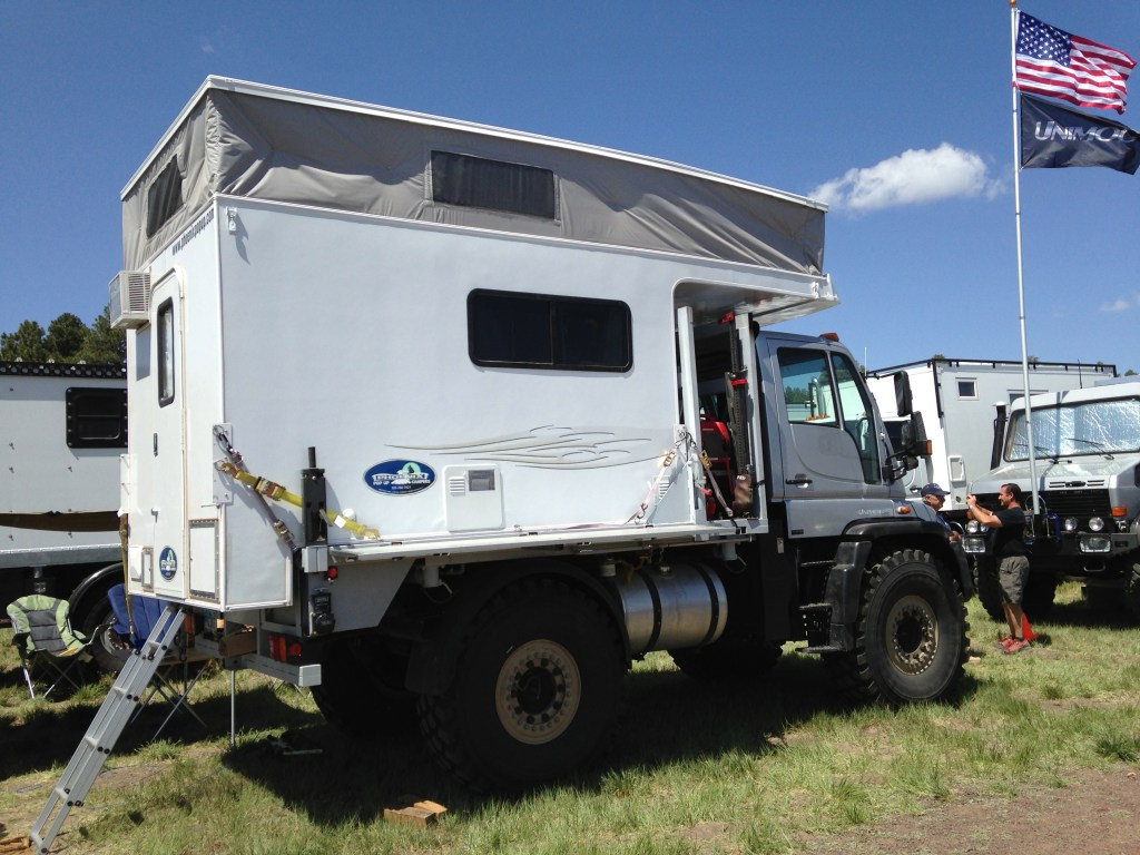 Unimog and Phoenix Camper at the 2013 Overland Expo