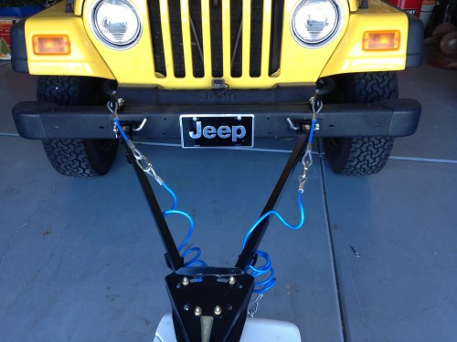 TJ Jeep Wrangler Flat Tow System - Truck Camper Adventure