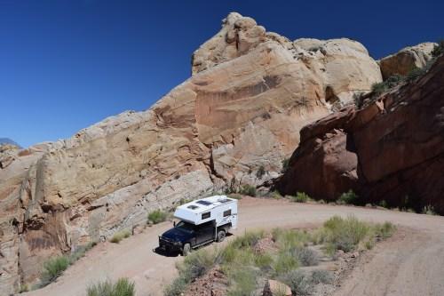 The Burr Trail Scenic Backway - Truck Camper Advenure