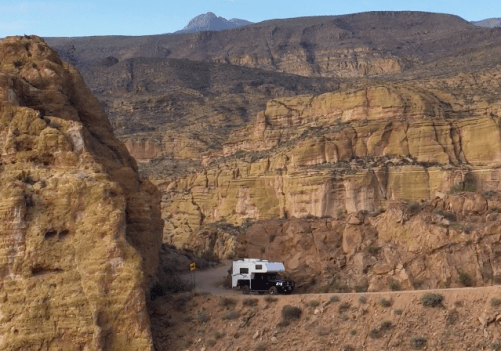 Truck Camper on the Apache Trail