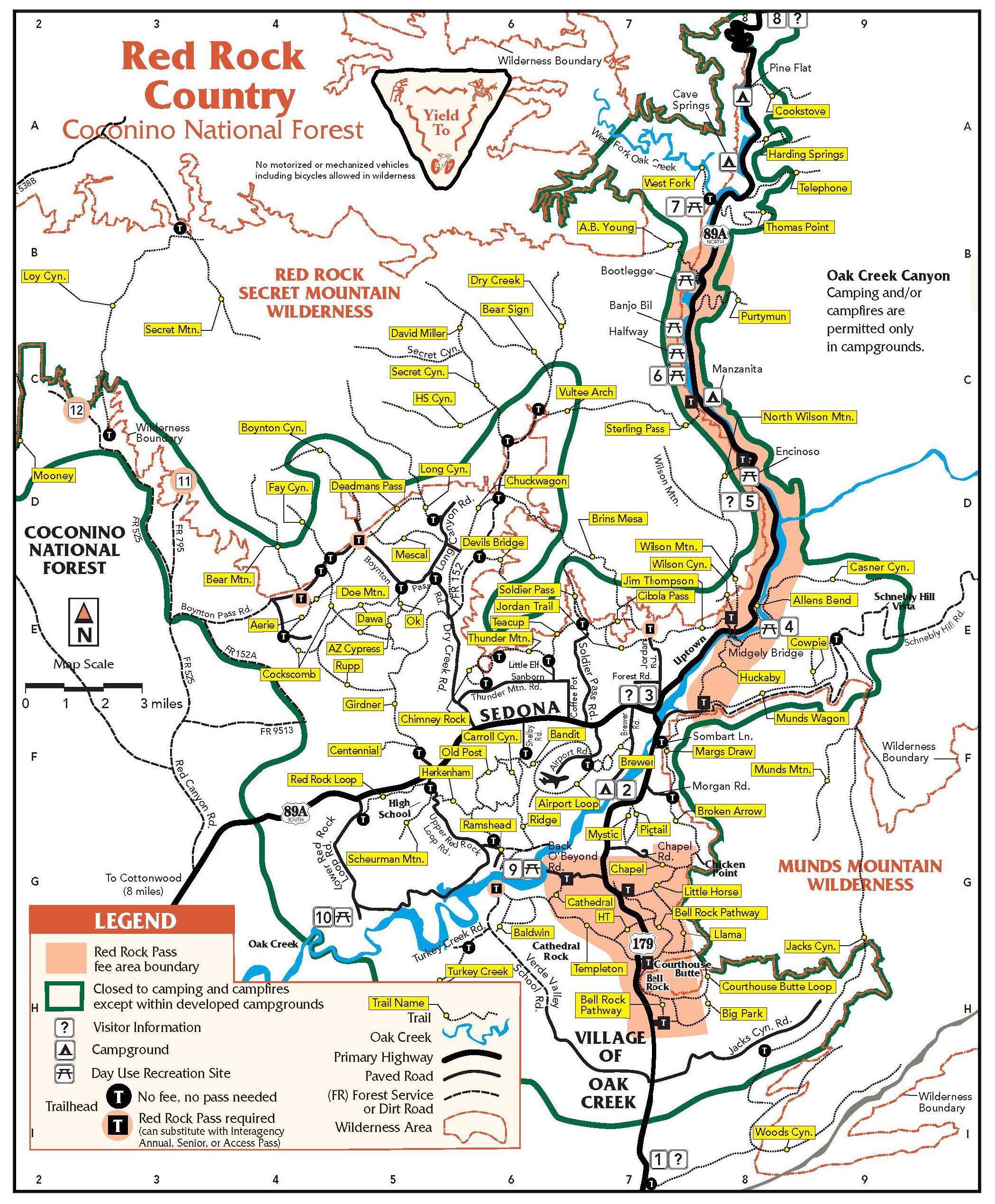 USFS Sedona Map