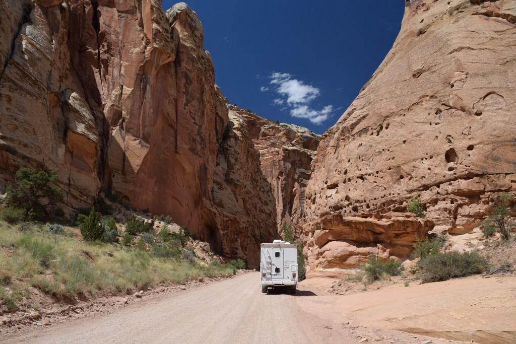 Capital Gorge, Capital Reef National Park - Truck Camper Adventure