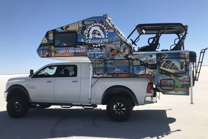 Truck Bed Camper >> Exohaul Reveals Revolutionary Toy Hauler Truck Camper