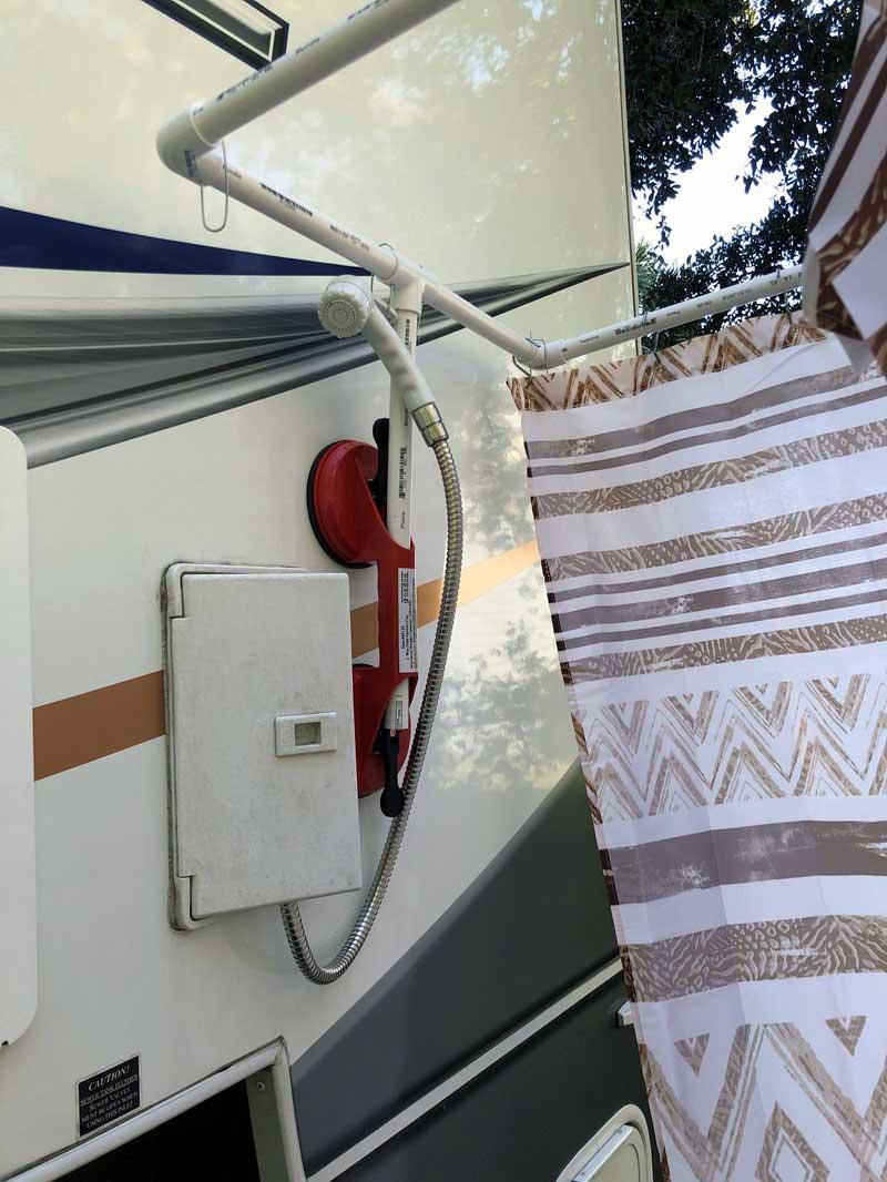 portable outdoor shower kit truck