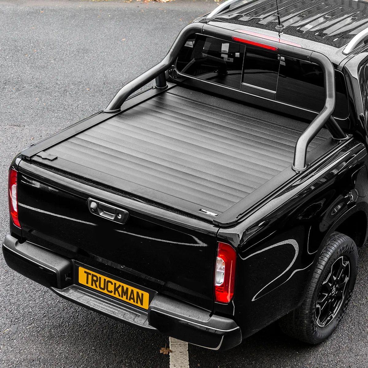 truckman retrax roller shutter tonneau cover black roll bar ford ranger 2012 onwards double cab