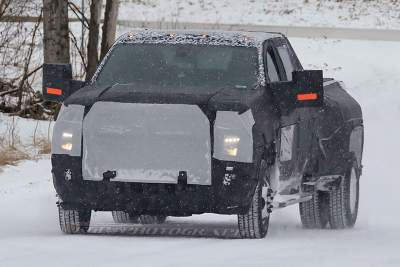 silverado 2500hd and 3500hd spy shot front end