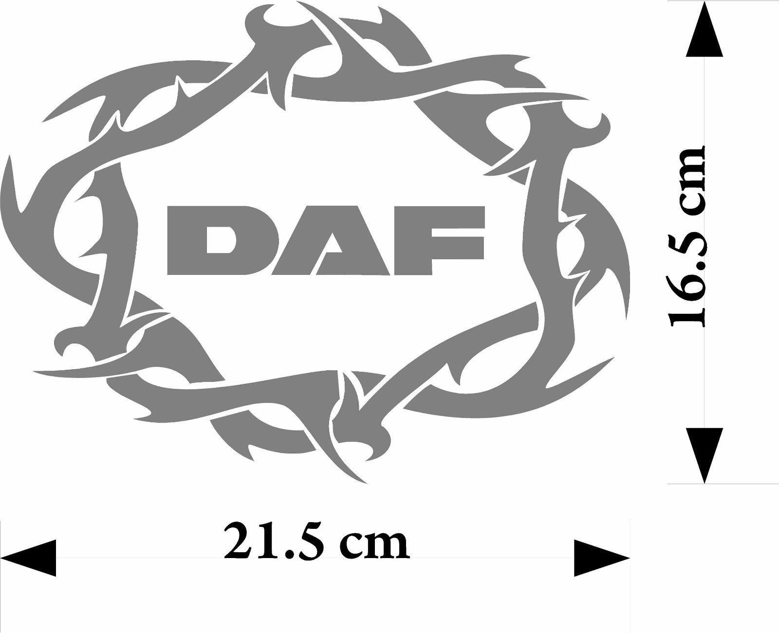 Selection Of Daf Truck Sticker Logo Enhancements