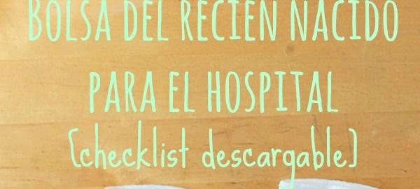 Bolsa del bebé recién nacido para el hospital