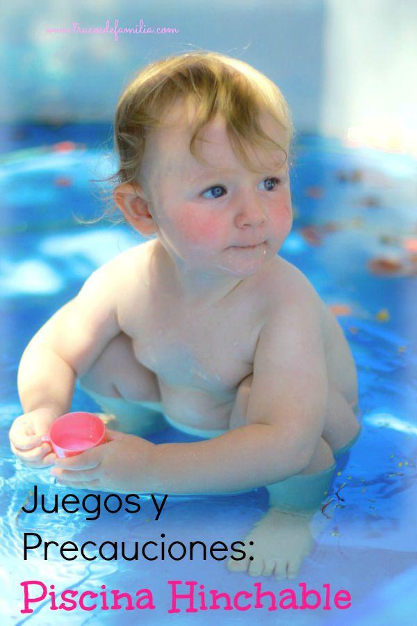 Juegos y precauciones- piscina hinchable