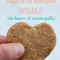 Galletas de almendra integrales [sin huevo ni mantequilla]