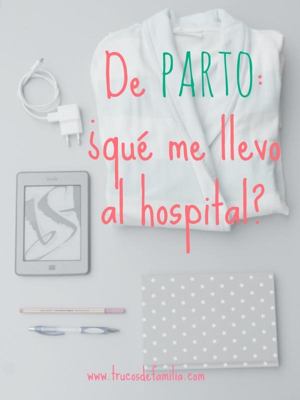 De parto: ¿qué me llevo al hospital?